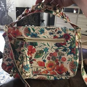 Steve Madden floral purse with gold trim